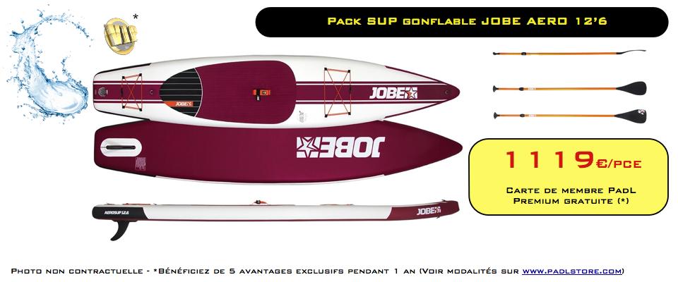 PROMO Pack SUP Jobe AERO 12'6