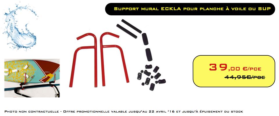 PROMO - Support mural ECKLA Pour planche à voile ou SUP
