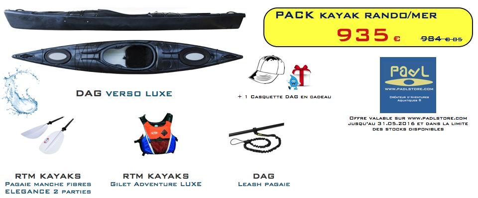 PROMO PACK - Kayak rando/mer