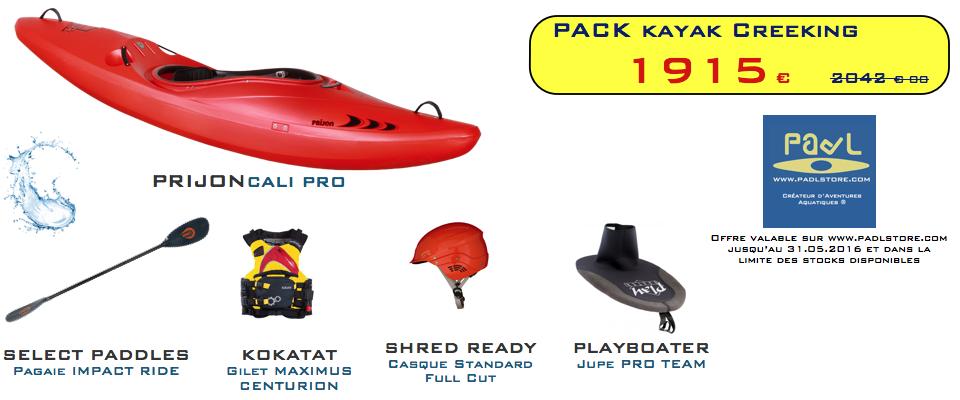 PROMO PACK - Kayak creeking