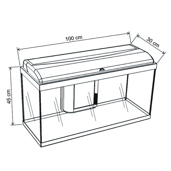 Aquatlantis aquadream 100 noir aquarium tout quip dim for Meuble aquarium 100 x 30