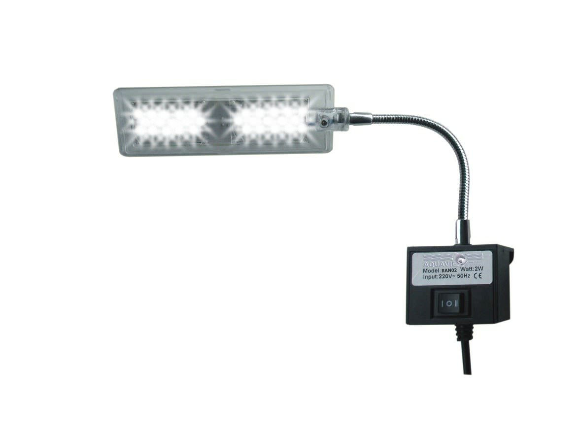 Aquavie lumivie ran02 freshwater lampe 2w leds blanches - Lampe led aquarium ...
