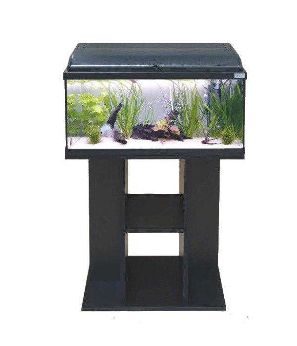 Aquatlantis aquadream 60 noir aquarium tout quip dim 60 for Aquarium avec meuble
