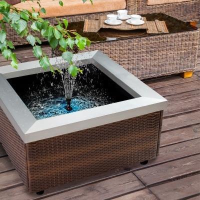 Theiling bassin lounge pour int rieur ou terrasse dimensions 77 5 x 77 5 - Bassin de terrasse en bois ...