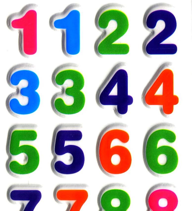 Magommette gommettes autocollantes chiffre basique - Chiffre a imprimer gratuit ...