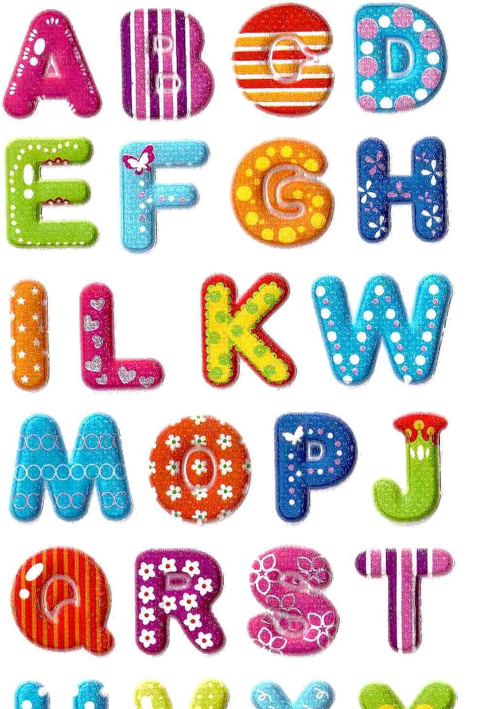 gommettes alphabet paillettes 3d gommettes enfants. Black Bedroom Furniture Sets. Home Design Ideas