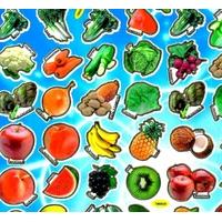 Gommettes Enfants Légumes et Fruits