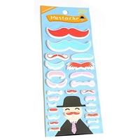 Stickers Moustache 3D rouge