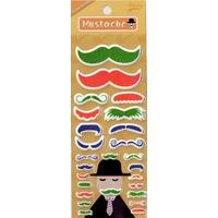 Gommettes Moustache 3D vert Fête des Pères