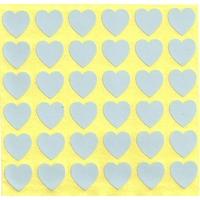 36 Coeurs de 2cm Tendrement Bleu Pâle