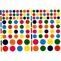 118 Gommettes Rondes Multicolores