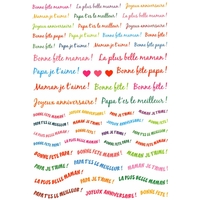 57 stickers Papa Maman