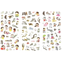 Lot de 210 stickers kawaii chats