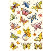 20 Stickers Papillons Colorés