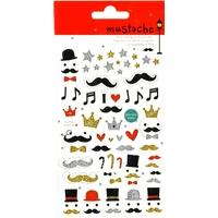 Stickers moustage paillettes