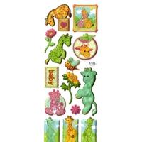 Sticker Paillette Bébé Girafe 22x9cm 3D