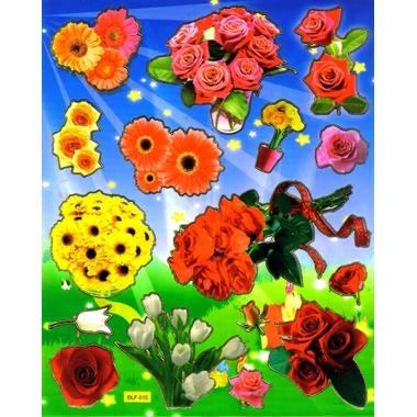 gomette fleurs bouquets roses margueritte tulipe grosses  gommette autocollant BLF 015
