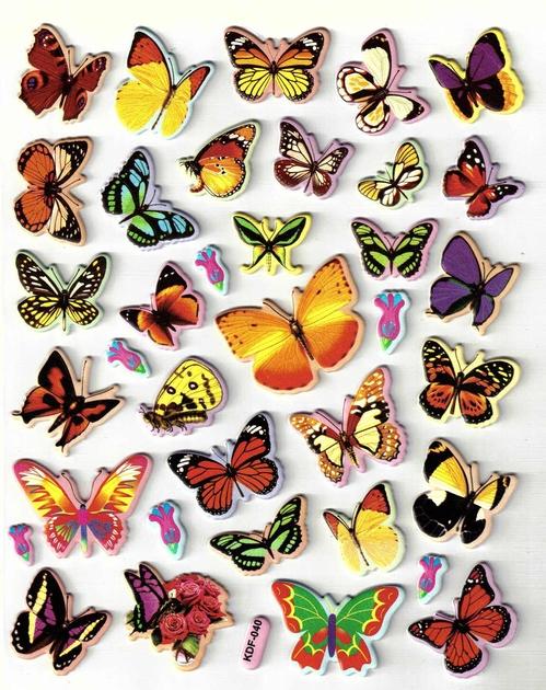 stickers papillons grande taille 3d gommettes enfants magommette. Black Bedroom Furniture Sets. Home Design Ideas