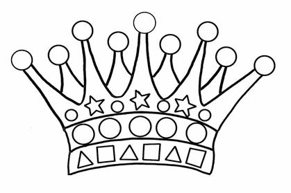 dessin pour gommettes couronne