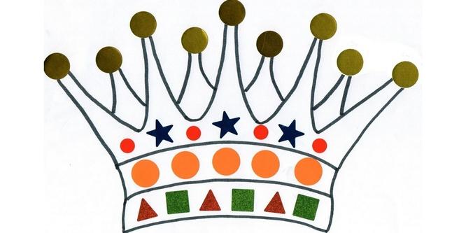 dessin pour gommette couronne