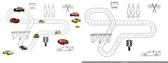 modele gommette imprimer voiture garcon