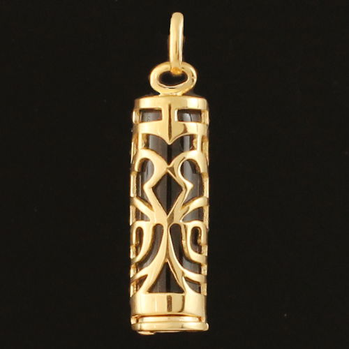 pendentif tiki symbole de la force plaqu or 3cm bijou laval. Black Bedroom Furniture Sets. Home Design Ideas