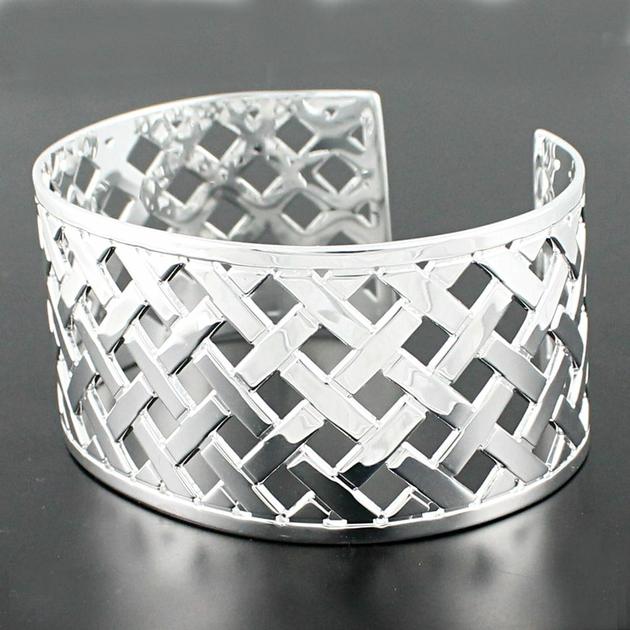 bracelet argent massif manchette moderne murat bijoux passion. Black Bedroom Furniture Sets. Home Design Ideas