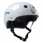 "Casque PRO-TEC U the classic blanc brillant ""Junior"""