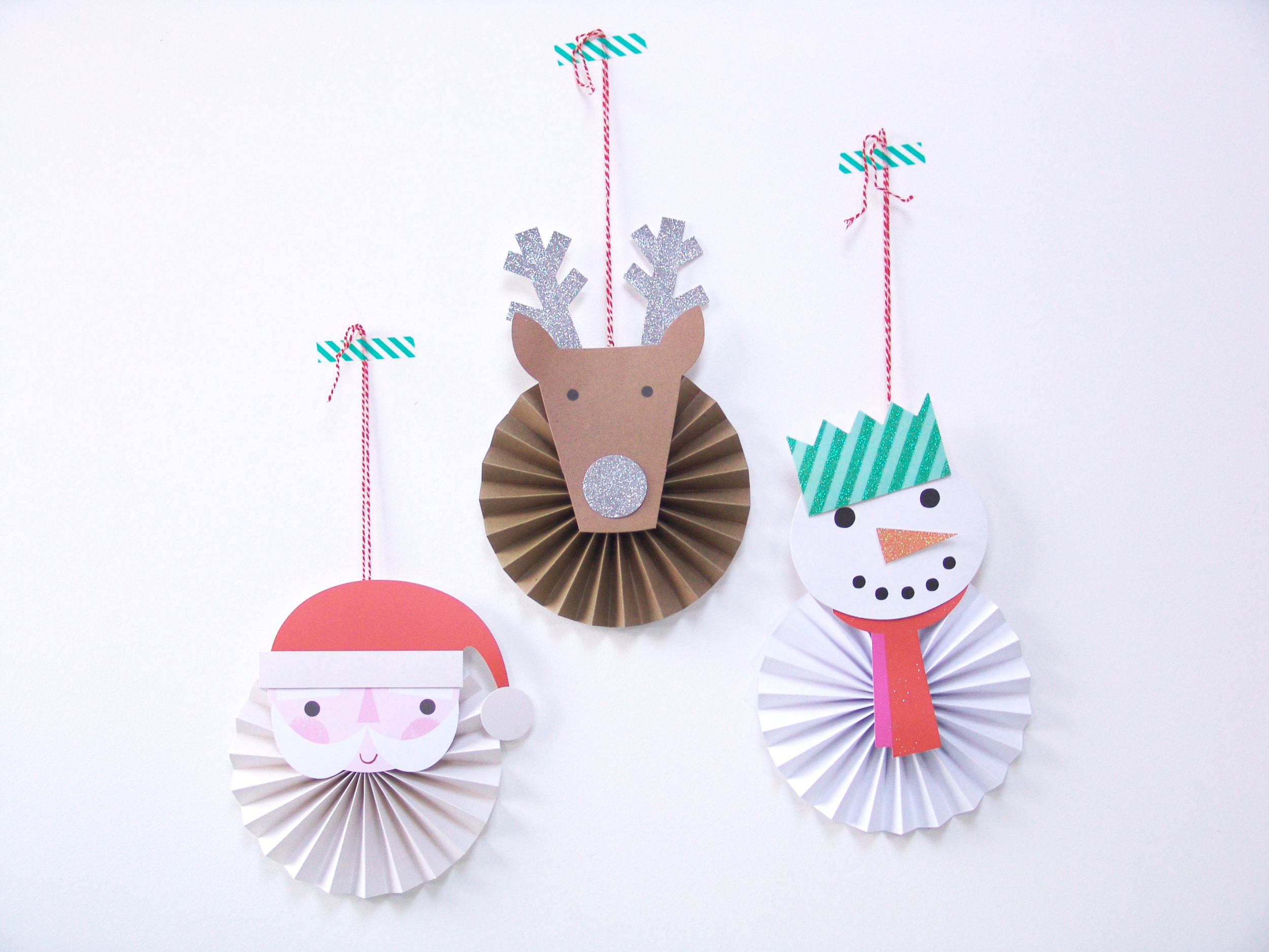 Kit suspension deco sapin de noel en papier original - Deco noel papier ...