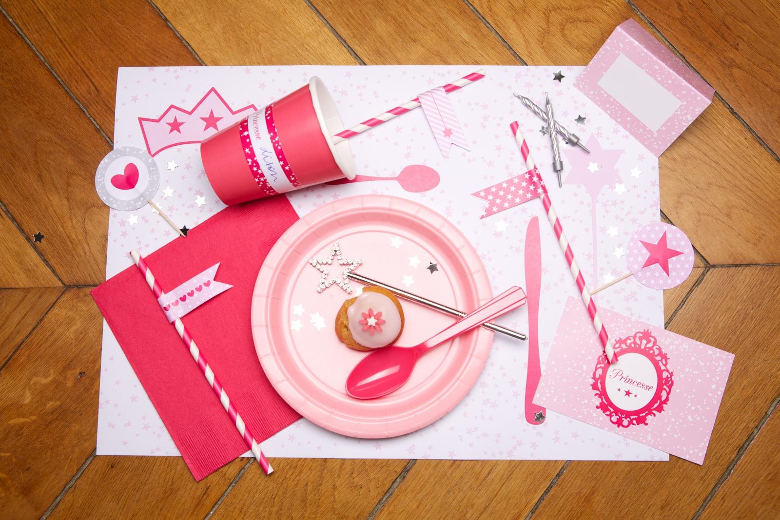 anniversaire princesse kit deco fille pas cher acheter. Black Bedroom Furniture Sets. Home Design Ideas