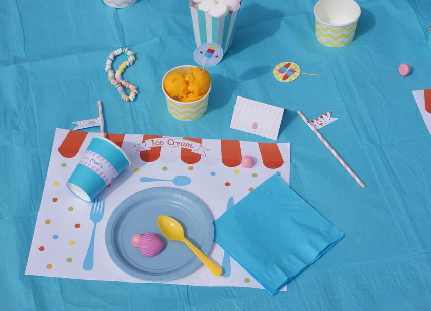 kit deco anniversaire enfant theme glace ice cream achat vente. Black Bedroom Furniture Sets. Home Design Ideas