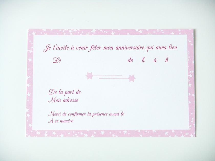 cartes d 39 invitation anniversaire princesse papeterie cartes d 39 invitation sweet party day. Black Bedroom Furniture Sets. Home Design Ideas