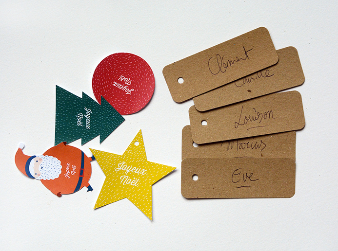Diy calendrier de l avent d coration de noel fabriquer et imprimer - Etiquette cadeau noel ...