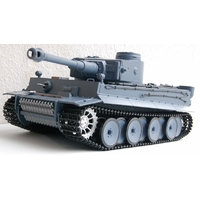 "CHAR  R/C  ""GERMAN TIGER""  1:16  [SON & FUMEE] - HENG LONG et transmission en métal"