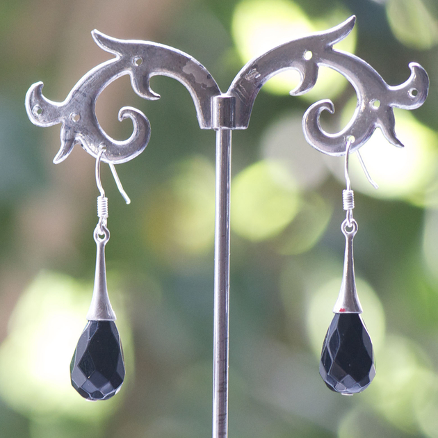 boucle d 39 oreille onyx cr ation support lustre goutte d 39 eau boucle d 39 oreille onyx. Black Bedroom Furniture Sets. Home Design Ideas