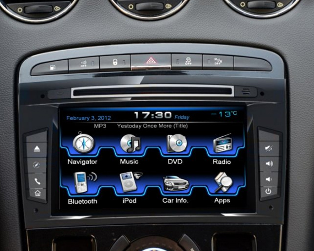 autoradio peugeot rcz gps dvd usb cran tactile 7 hightech. Black Bedroom Furniture Sets. Home Design Ideas