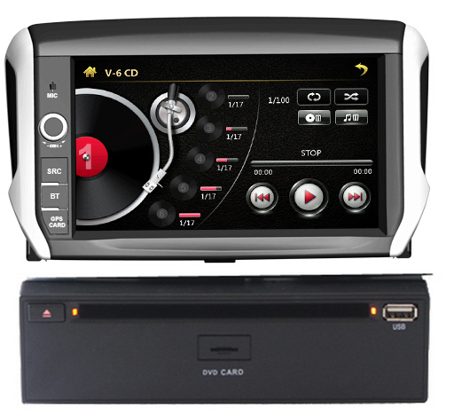 autoradio tactile 8 dvd gps peugeot 208 2008 avec usb. Black Bedroom Furniture Sets. Home Design Ideas