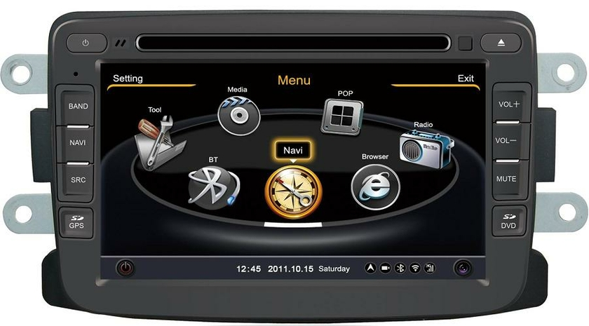 autoradio gps dacia duster sandero lodgy cran tactile gps dvd hightech. Black Bedroom Furniture Sets. Home Design Ideas