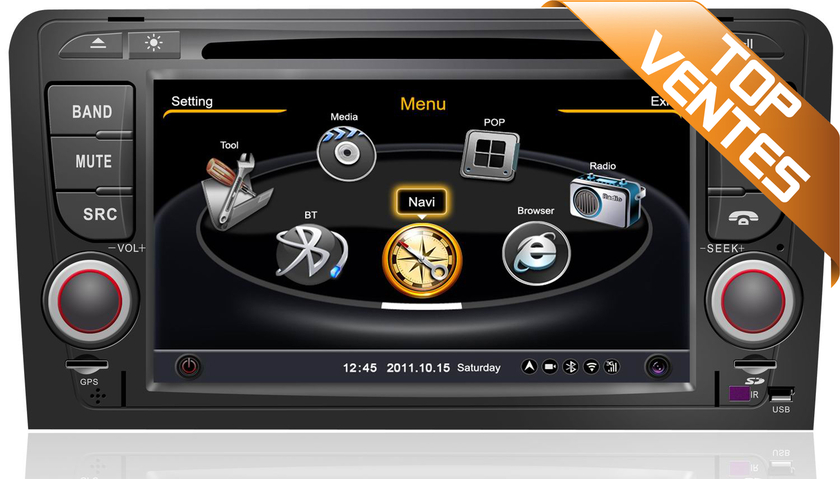 autoradio gps audi a3 de 2003 2012 licence de navigation sygic officielle. Black Bedroom Furniture Sets. Home Design Ideas