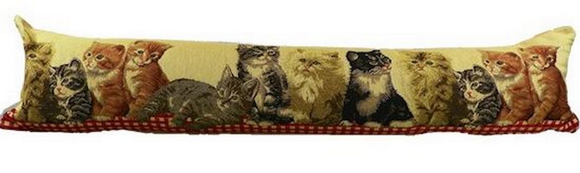 Boudin de porte chats style tapisseriee objet d co salle - Boudin double de porte ...