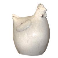 Poule blanche céramique
