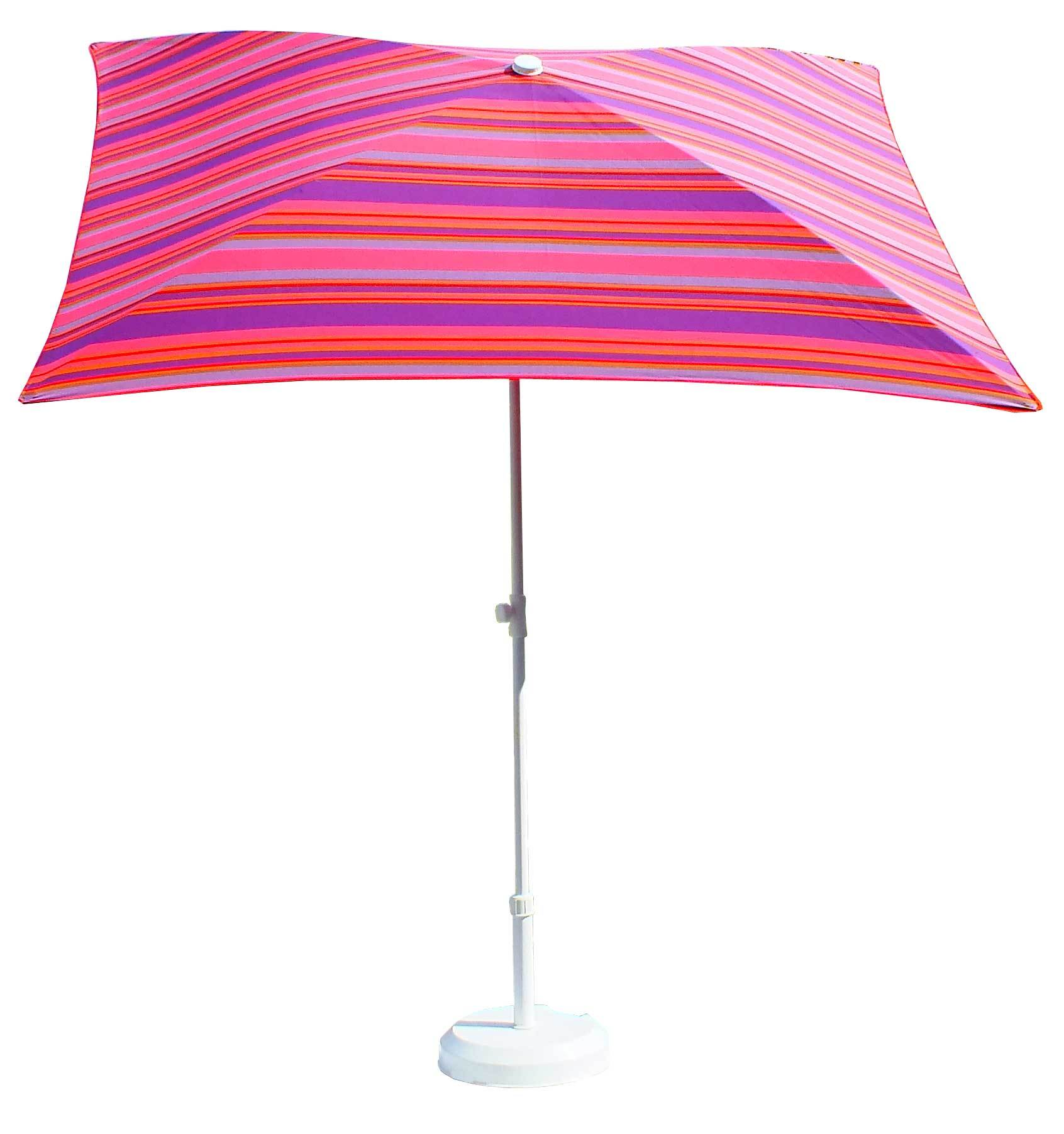parasol rectangulaire 200x150 ray fushia parasol classique parasol de balcon. Black Bedroom Furniture Sets. Home Design Ideas