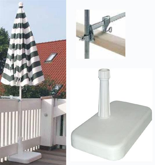 ensemble pied pince balcon pied pour parasol. Black Bedroom Furniture Sets. Home Design Ideas