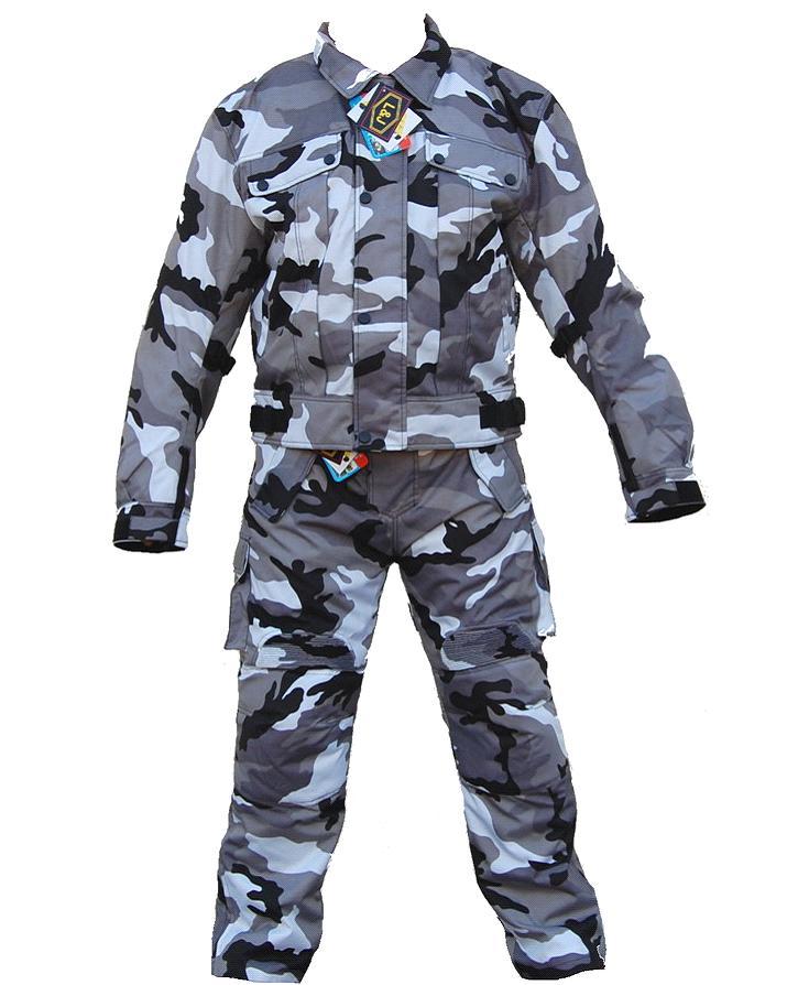 kt200 combinaison moto quad karno treillis gris en cordura uniforme militaire combinaison. Black Bedroom Furniture Sets. Home Design Ideas