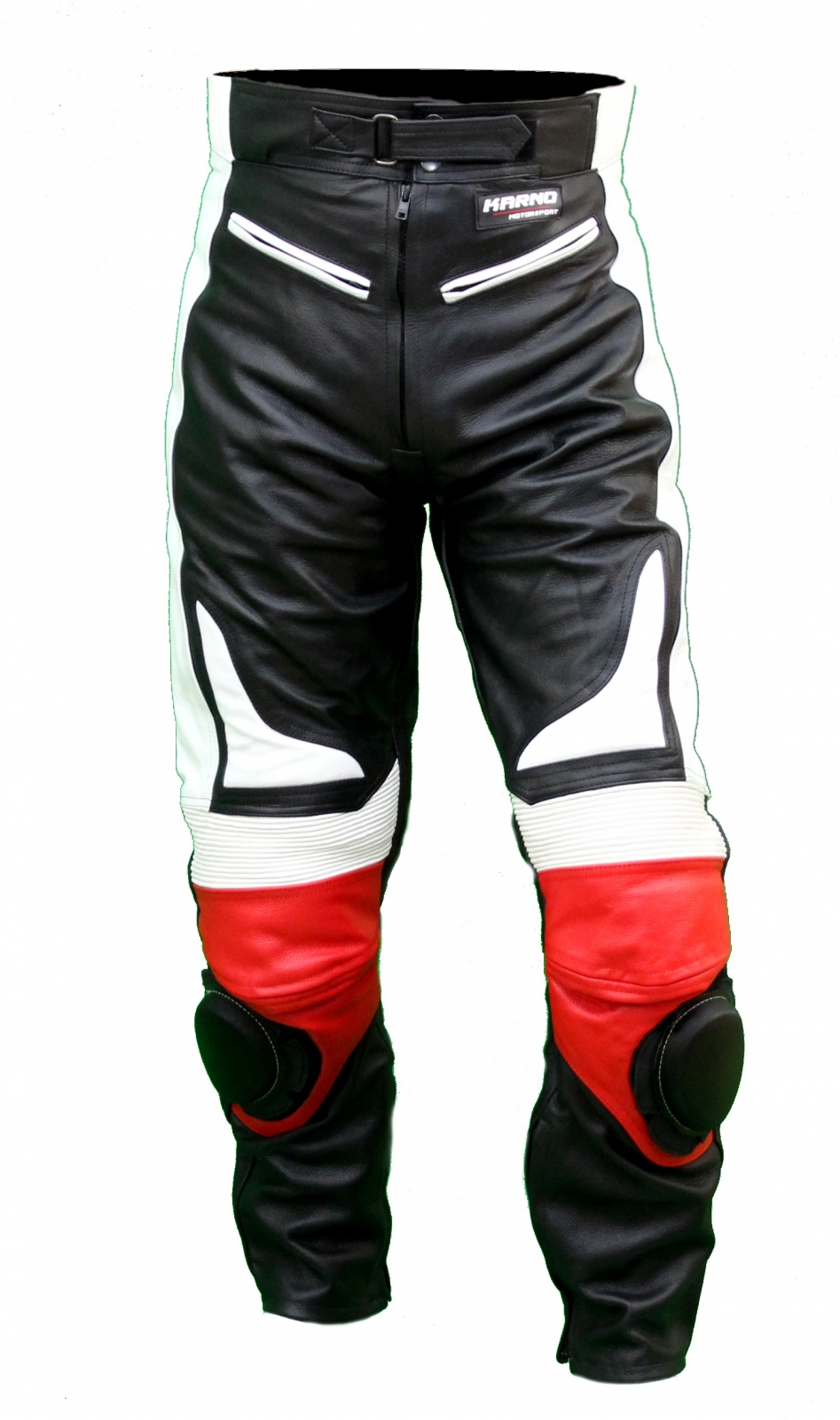 kc300 pantalon moto quad racing cuir noir et rouge karno. Black Bedroom Furniture Sets. Home Design Ideas