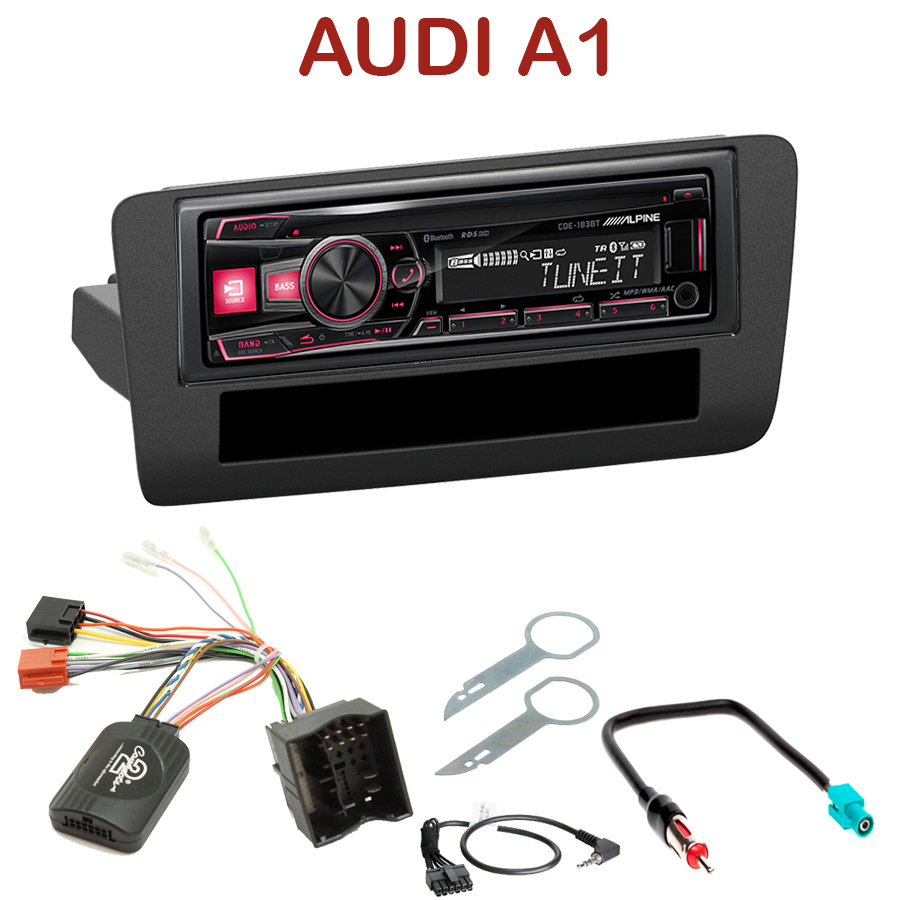autoradio 1 din audi a1 poste cd usb mp3 bluetooth alpine audi autoradios. Black Bedroom Furniture Sets. Home Design Ideas