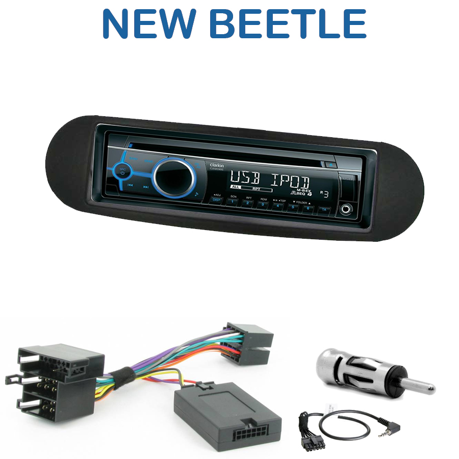 autoradio 1 din vw new beetle poste cd usb mp3 wma clarion vw autoradios. Black Bedroom Furniture Sets. Home Design Ideas