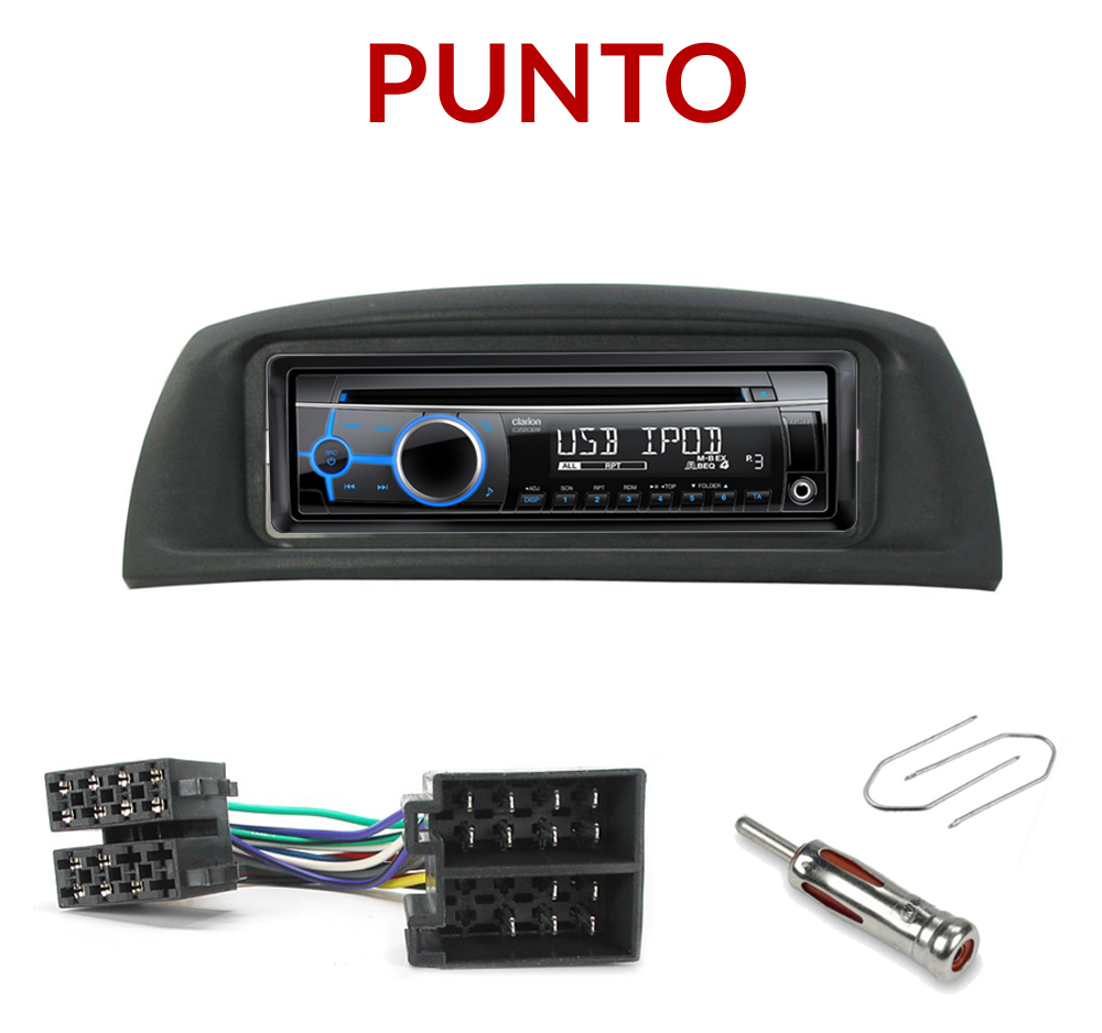 autoradio 1 din fiat punto poste cd usb mp3 wma clarion fiat autoradios. Black Bedroom Furniture Sets. Home Design Ideas