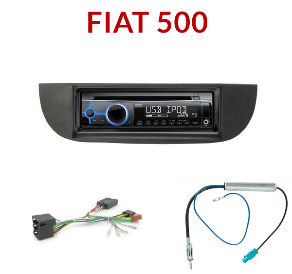 autoradio 1 din fiat 500 poste cd usb mp3 wma clarion fiat autoradios. Black Bedroom Furniture Sets. Home Design Ideas