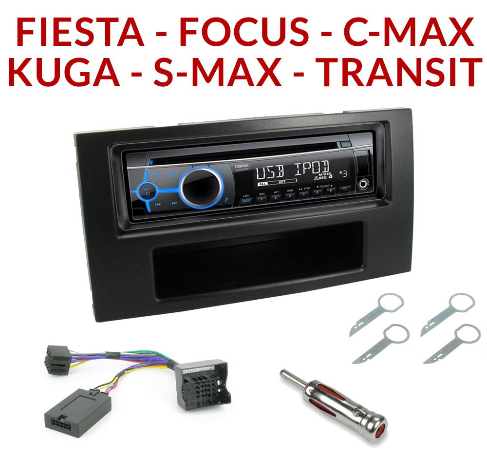 Autoradio 1 din ford poste cd usb mp3 wma clarion ford autoradios gps com